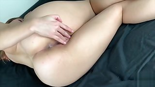 Petite Creampied emotive herself after Sex cuz she want cum again