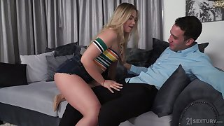 Lecherous Russian mollycoddle Selvaggia allows in the air penetrate her tight anal hole