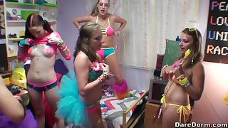 Zoe Parker and Cadence Lux with their girlfriends in a lesbian orgy