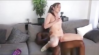 Beautiful Teen Kasey Warner Drilled Unconnected with Big Black Cock