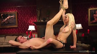 after a long day Lorelei Lee, wants to punish her lover with large strapon