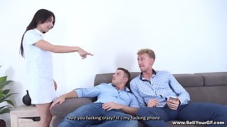 Roxy Sky enjoys wild and rough threesome with her horny friends