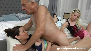 A Hotness Kinky Young Chambermaid Fucks Old  - Old and Young