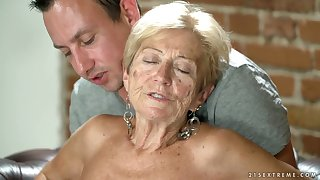 Filthy granny Malya has an risk with young dude living nextdoor
