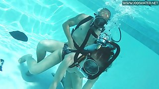 Ardent and kinky Hungarian scuba diver Minnie Manga is fucked in-ground