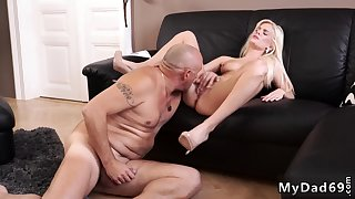 Hot blonde fucked good Horny towheaded wants relative to attempt