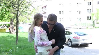 Ladies' fucks mouth, pussy and anus be fitting of pretty Russian teen on the cunning date
