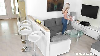 Hidden camera video featuring pretty stepdaughter Angelika Be proper playing with herself